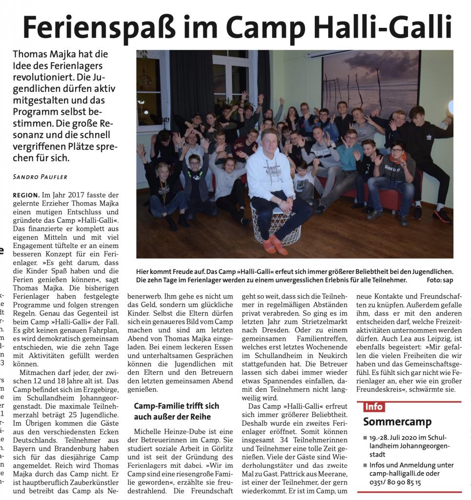 Camp HalliGalli Ferienlager Sachsen