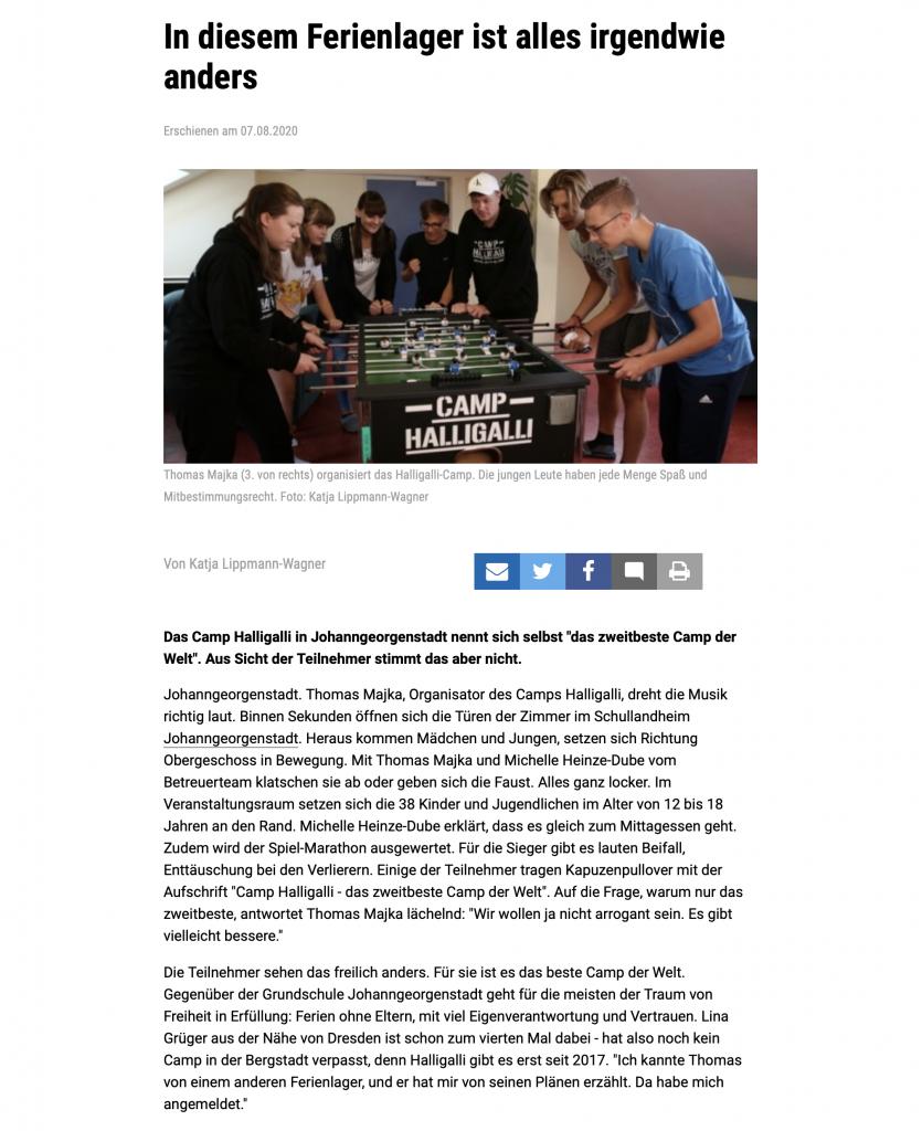 Freie Presse Camp HalliGalli